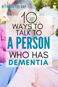 How to Communicate with A Person with Dementia - Alzheimer's Disease - Communicating with Dementia patients can be difficult. These ten commandments will help you learn h - Vascular Dementia, Dementia Care, Alzheimer's And Dementia, Dementia Symptoms, Activities For Dementia Patients, Elderly Activities, Alzheimers Activities, Senior Activities, Recipes