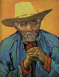 Tableaux sur toile, reproduction de Van Gogh, Portrait Of Patience Escalier, 69x56cm