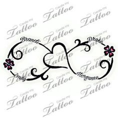 Tattoo with kids names | 4 kids name #280572 | CreateMyTattoo.com