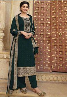 Sharara, Salwar Kameez, Palazzo Suit, Swarovski, Sari, Plus Size, Suits, Green, Dresses
