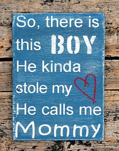 There's This Boy Small 7x10 Weathered Wood Wall Art by MamsCrafted, $40.00