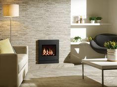 With its clean and contemporary lines, the Steel Inset gas fires offers great appeal to many homeowners. Open Fires, Gas Fires, Front Design, Wall Design, Glasgow Scotland, Radiant Heat, Property For Sale, Steel, Contemporary