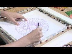 Talking Threads Episode 1 Jill Kennedy Silk Painting Demonstration Part 1 of 2