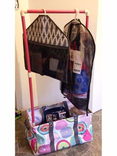 Dance competition Thirty-One hack!! All you need is some pvc pipe and a Large utility Tote aka the perfect catch all for costumes and shoes   Www.mythirtyone.com/AnnieLevitt