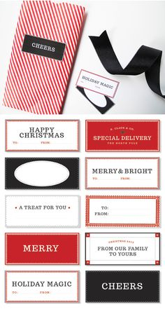 Free printable mercantile-inspired tags | for The TomKat Studio by design editor #holiday #christmas #gifttags