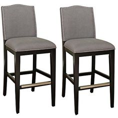 """American Heritage Set of 2 Chase 26"""" High Counter Stools"""