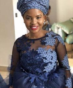 Shweshwe Dresses with Lace Latest Designs African Print Wedding Dress, African Wedding Attire, African Attire, African Dress, African Weddings, Nigerian Weddings, African Lace, Setswana Traditional Dresses, South African Traditional Dresses