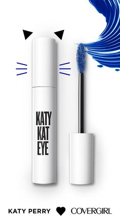 Katy Kat Eye Mascara's super dark formula spirals onto the brush—and then onto your lashes—for 10X the volume + darkness. Meow-za!