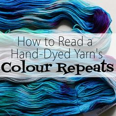 Last week, I gave you the first and most important step to understanding your skein of hand-dyed yarn: opening it up. And because we're constantly twisting and untwisting skeins here in the studio, it seems like a really simple step to me, but I know from our experiences at yarn festivals and trunk shows that...