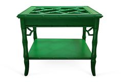 kelly green faux bamboo side table!