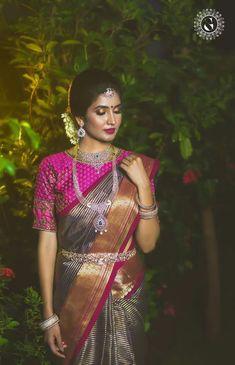 Stunning Latest Maggam Work Blouse designs 2020 for bridal kanjeevaram silk sarees, wedding blouses, pattu saree blouse designs 2020 Half Saree Designs, Pattu Saree Blouse Designs, Bridal Blouse Designs, Indian Bridal Sarees, Bridal Silk Saree, Saree Wedding, Silk Sarees, Wedding Wear, Wedding Bride