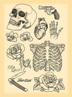 by rik lee. #Tattoos #TattoosFlash #Flash