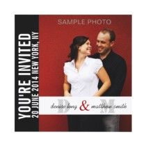 Modern Engagement Photo Wedding Invitations by monogramgallery