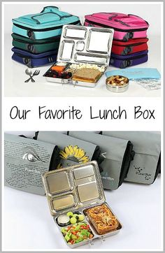 Best lunch box for kids- PlanetBox! Our review of PlanetBox stainless steel bento lunch box for kids. (Non-toxic and dishwasher safe) ~ buggyandbuddy.com