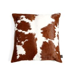 Zulucow Nguni cowhide cushions suede brown and white scatter cushions home…