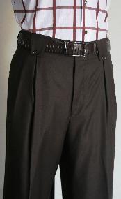 Leg Pants Brown Mens Wide Leg Trousers, Mens Slacks, Wide Leg Pants, Mens White Dress Pants, Men Dress, Brown Pants, Formal Shirts, Guy Stuff, Wool Pants