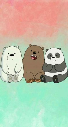 """We bear bears """"panda, grizzly, polar🐻 🐼 Cute Panda Wallpaper, Cartoon Wallpaper Iphone, Disney Phone Wallpaper, Bear Wallpaper, Kawaii Wallpaper, Cute Wallpaper Backgrounds, We Bare Bears Wallpapers, Panda Wallpapers, Cute Cartoon Wallpapers"""