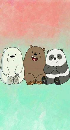 "We bear bears ""panda, grizzly, polar🐻 🐼 Cute Panda Wallpaper, Bear Wallpaper, Kawaii Wallpaper, Cute Wallpaper Backgrounds, We Bare Bears Wallpapers, Panda Wallpapers, Cute Cartoon Wallpapers, Cartoon Cartoon, Vintage Cartoon"