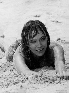 """Anna Karina in """"Lo straniero"""" (1967). Director: Luchino Visconti."""
