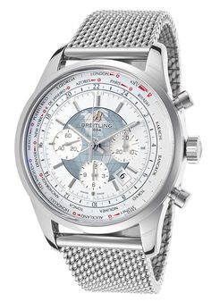 Breitling Men's Transocean Chronograph Stainless Steel White DialBreitling AB0510U0-A732 Watch