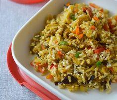 ryż z kurczakiem i mieszanką chińską Quesadilla, Fried Rice, Fries, Easy Meals, Chinese, Ethnic Recipes, Blog, Quesadillas, Easy Dinners