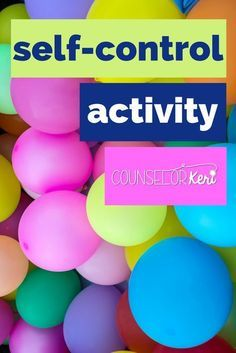 two fun games to use in classroom guidance lessons or small group counseling to teach and practice self control strategies -Counselor Keri