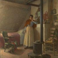 Léon Delachaux, À quoi rêvent les jeunes filles ?, 1905 sur www.leondelachaux.org