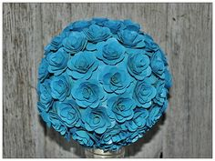 Pomander or flower Ball, Sky Blue