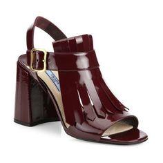 Pre-owned - Leather mid heel Prada LrvbTTBvNR