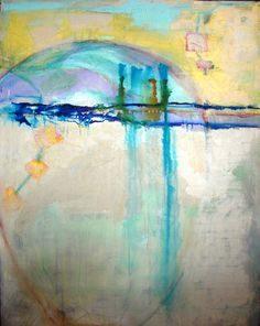 Abstract Painting Large original art turquoise by CherylWasilowArt