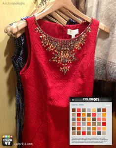 See what colors you can use to accessorize this great red dress! For your color inspiration: Color911.com  #color #Color911 #app #fashion