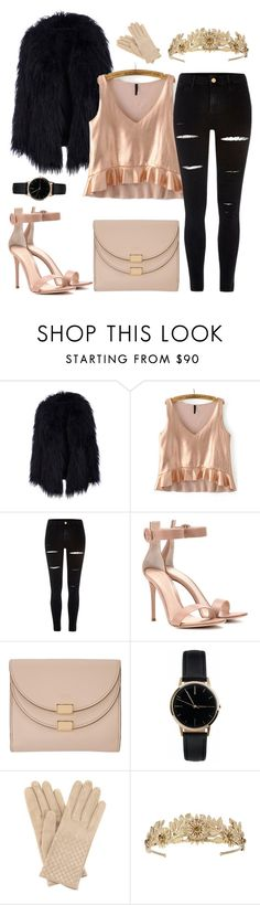 """""""Beige Winter !"""" by shanarevival ❤ liked on Polyvore featuring River Island, Gianvito Rossi, Chloé, Freedom To Exist and Bottega Veneta"""
