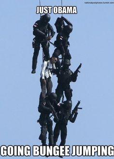 Obama going bungee jumping http://ibeebz.com