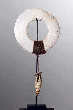 Adorned Boiken Kina Ring Boiken, Papua New Guinea, Sepik River Region