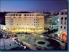 Thessaloniki by night-I was here! S`agapo Thessaloniki! Macedonia Greece, Athens Greece, Greece Thessaloniki, Myconos, Greek Beauty, Indoor Swimming Pools, Palace Hotel, Greece Travel, Vacation Spots