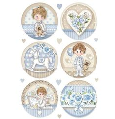 Rice paper - vintage blue Little boy decoupage paper, baby boy scrapbook sheet Baby Boy Scrapbook, Scrapbook Bebe, Scrapbook Paper, Decoupage Glass, Rice Paper, Craft Gifts, Vintage Floral, Little Boys, New Baby Products