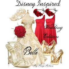 """""""Disney Inspired: Wedding Edition: Belle"""" by paige-robson on Polyvore"""