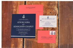 #Nautical wedding #invitation ensemble for a #Nantucket #wedding I Custom by Nico and Lala