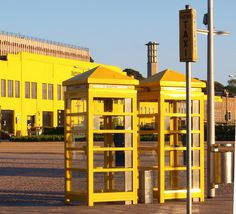 Yellow things, St. Helier, Channel Islands, Great Britain