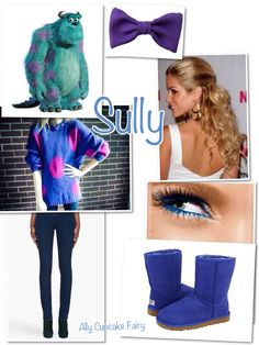 Sully inspired outfit- omg this is adorable I love the top