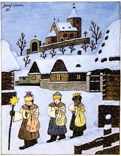 Art Nouveau Mucha, Three Wise Men, Naive Art, Russian Art, Children's Book Illustration, Childrens Books, Vintage Christmas, Illustrators, Fairy Tales