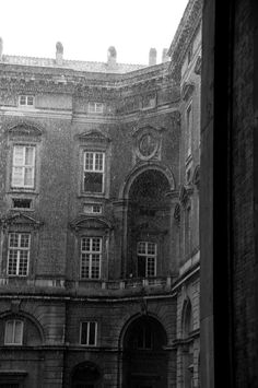 Caserta Palace in the rain 2013