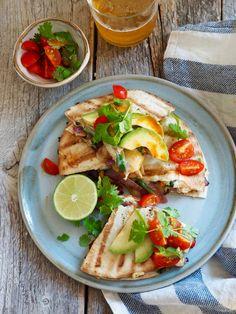 Quesadillas, Fajita Quesadilla, Tex Mex, Fajitas, Main Meals, Chicken Recipes, Grilling, Tacos, Food And Drink