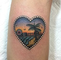 los angeles landscape inside a heart. (on my left calf) my new favorite member of the family. <3 <3 <3