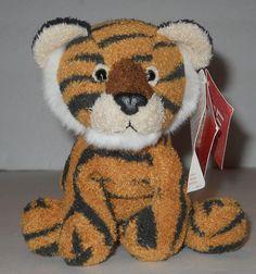 "Russ Luv Pets Thor Tiger 5"" Beanbag Plush Stuffed Animal NWT NEW 21094 Rare #Russ"