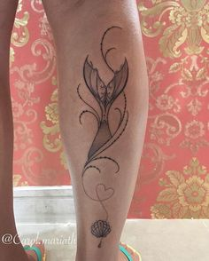 Mermaid tail tattoo by carol.mariath. Mermaid Tattoos are magically enchanting and a true