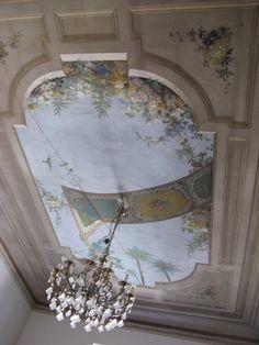 decorative painted ceiling ~ restauro pittorico collaborazione armilladecor