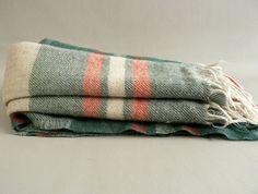 Vintage Plaid Wool Blanket. $24.99, via Etsy.