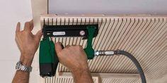 Aménagement intérieur : Lignotrend Wooden Wall Design, Door Design, Timber Cladding, Exterior Cladding, Interior Design Living Room, Interior Decorating, Wood Slat Wall, Sliding Wall, Woodworking Inspiration