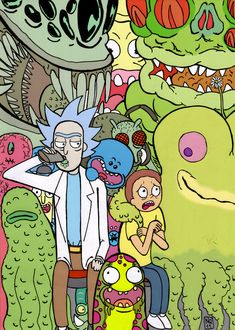 Rick And Morty Colored by nic011.deviantart.com on @DeviantArt